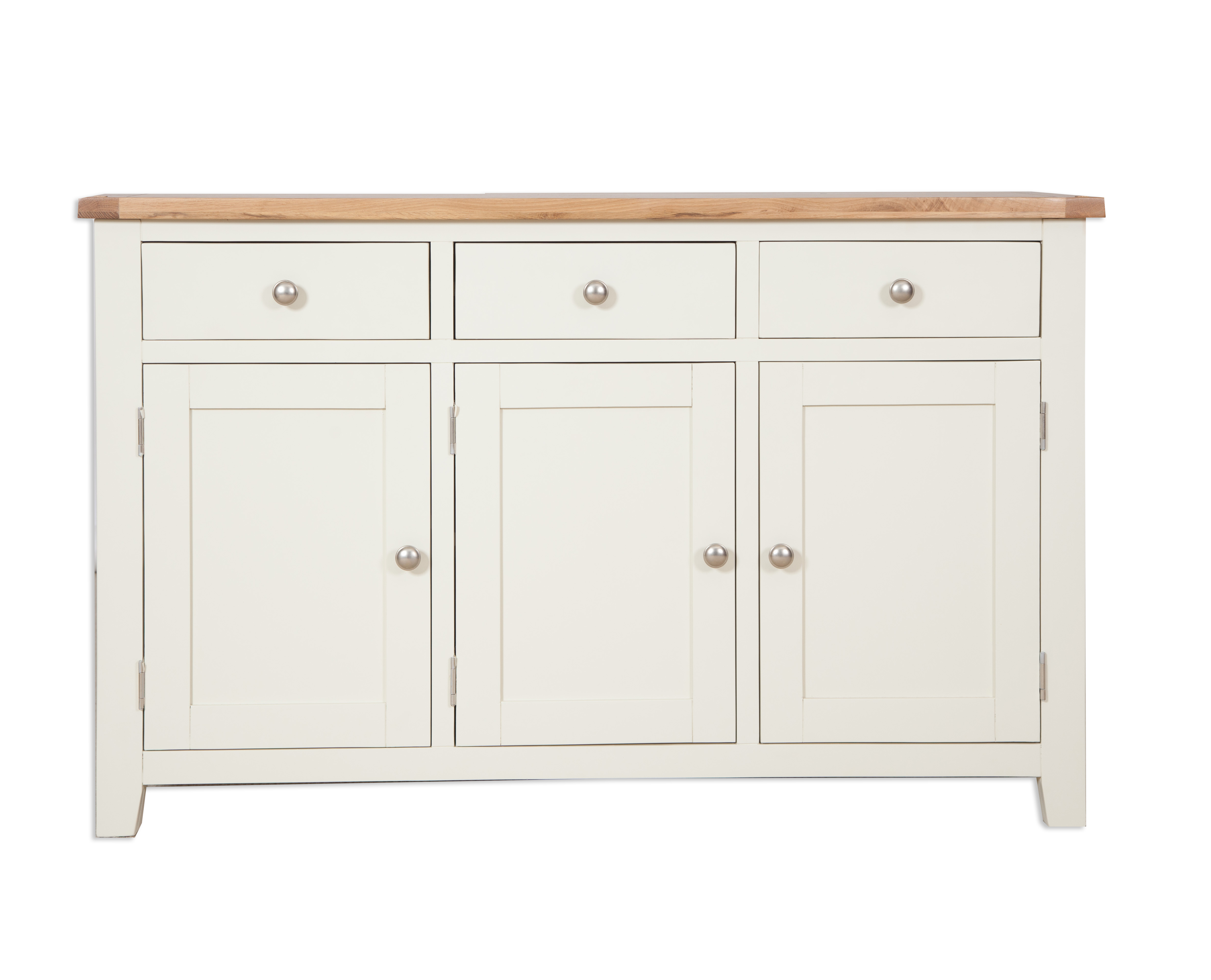 French Ivory Cream Painted Sideboard 3 Door 3 Drawer